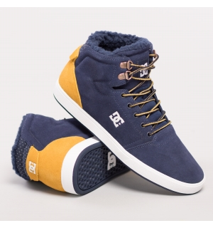 DC CRISIS HIGH WINTER SHOE Navy/Gold - 39