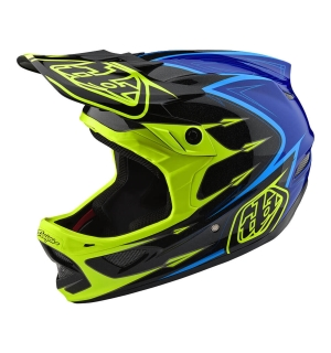 TROY LEE D3 COMPOSITE CORONA Flo Yellow/Blue - M
