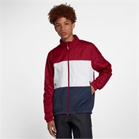 NIKE SB SHIELD STRIPE JACKET RED CRUSH/WHITE/OBSIDIAN - L