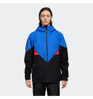 ADIDAS PREMIERE RIDING JACKET BLACK/WHITE/BLUE/RED - M