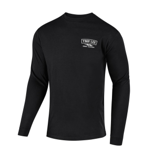 TROY LEE FLOWLINE L/S TECH TEE CLASSIC SHOCKER BLACK - XL