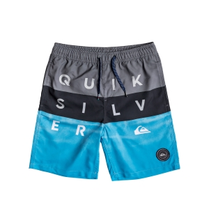 QUIKSILVER WORD BLOCK VOLLEY YOUTH 15 IRON GATE - XS/8år