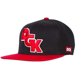 DGK Cap Stagger Black/Red - One size