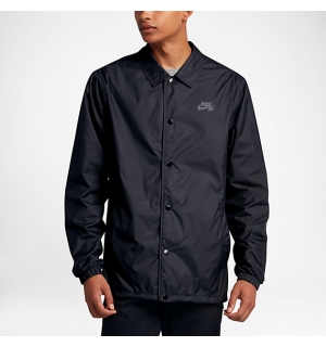 NIKE SB SHIELD COACHES JACKET BLACK/COOL GREY - S
