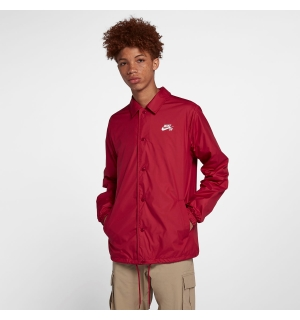 NIKE SB SHIELD COACHES JACKET RED CRUSH/WHITE - M