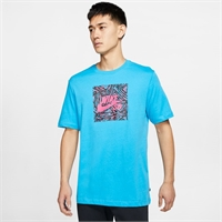 NIKE SB TRIANGLE TEE LASER BLUE/WATERMELON - M