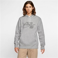 NIKE SB EMBROIDERY HOODY DK GREY HEATHER/BLACK - L
