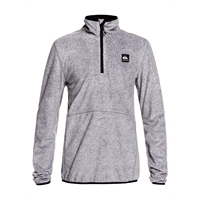 QUIKSILVER AKER YOUTH 1/2-ZIP FLEECE GREY RIPSTOP TEXTURE - M/10år