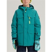 BURTON BOYS COVERT JKT GREEN BLUE SLATE/SATELLITE - XL/14år