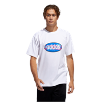ADIDAS OVAL TEE WHITE - XL