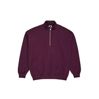 Polar Zip Neck Sweatshirt Prune - M
