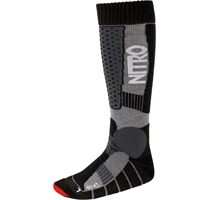 NITRO TEAM SOCKS BLACK/GREY/RED - M